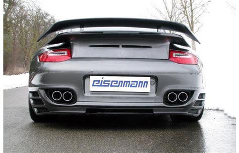 Porsche 911 Sportauspuff by Eisenmann Duplex Edelstahl Sportauspuff Inkl