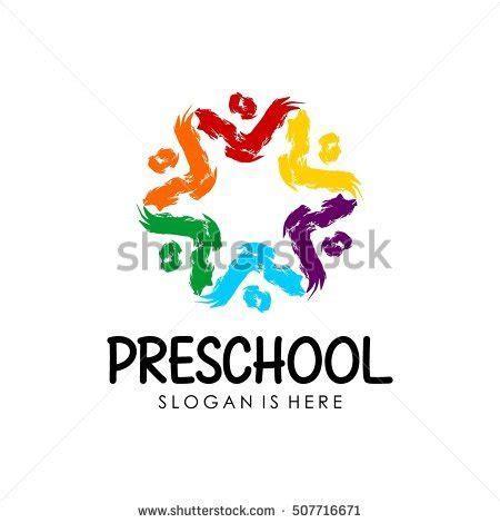 free kindergarten logo design preschool kindergarten logo design template stock vector