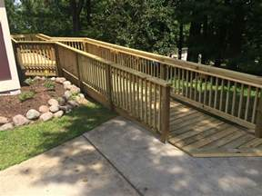 Exterior Aluminum Handrails Wheelchair Ramps Wood Metal Concrete Amp Landscaping