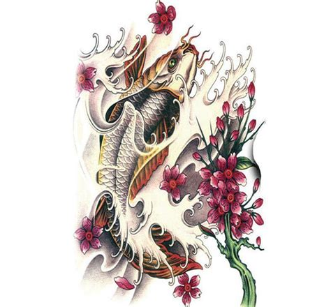 temporary tattoo koi fish koi fish tattoo large temporary tattoo fish tattoo