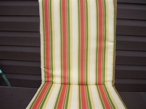 striped patio cushions 6 new yellow and pink striped outdoor patio cushions ebay