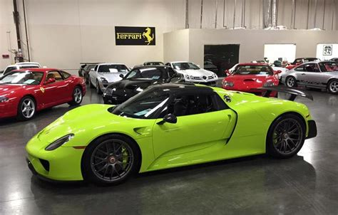 porsche 918 acid green salomondrin selling his 918 bodybuilding com forums