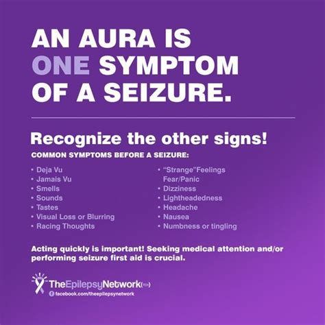 seizure symptoms an aura is one symptom of a seizure recognize the other signs the epilepsy network