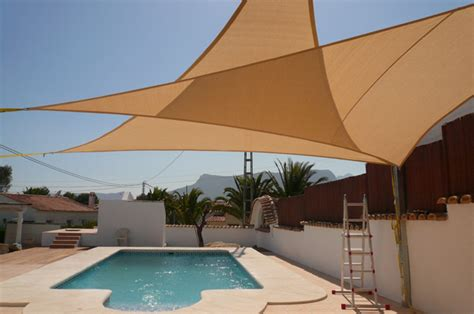triangle awnings new 10ft triangle sun block shade sail uv canopy awning