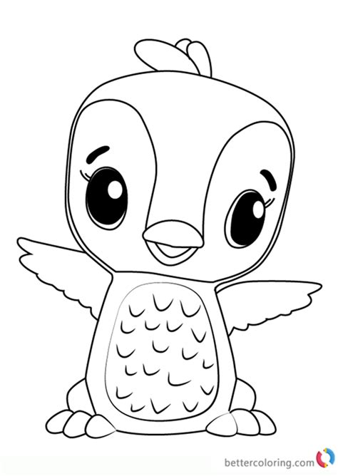 Hatchimals Coloring Page penguala from hatchimals coloring book free printable
