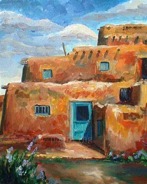 acrylic painting houses handmade modern abstract architecture acrylic picture