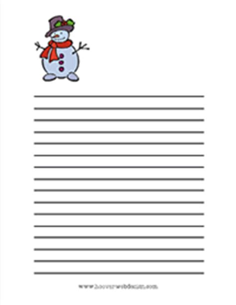free printable snowman writing template new free printable christmas writing paper stationary
