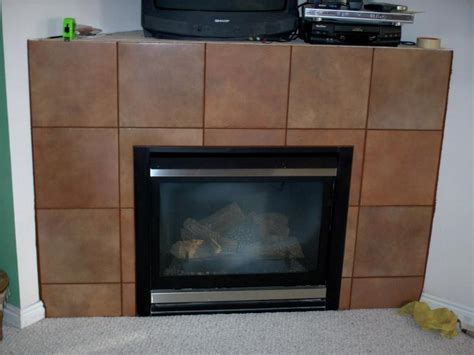 tile around a gas fireplace