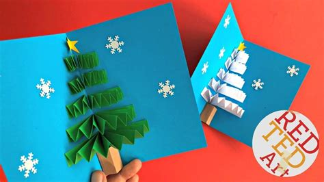 How To Make A Pop Up Christmas Tree Card diy pop up card