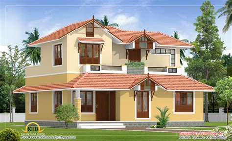 beautiful house elevation designs gallery beautiful sloping roof house elevation 1840 sq ft kerala home design and floor plans