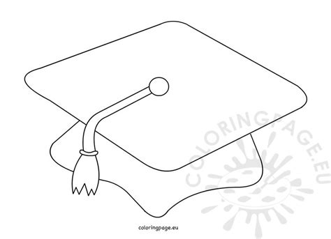 graduation hat template graduation cap black and white coloring page