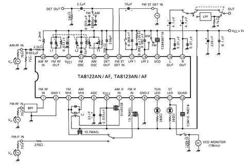 am radio integrated circuit am fm radio receiver circuit using ta8122 integrated ic