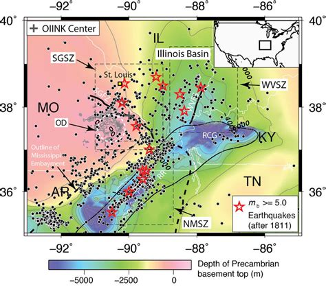 earthquake zone 2 geologists record widespread activity on ste genevieve