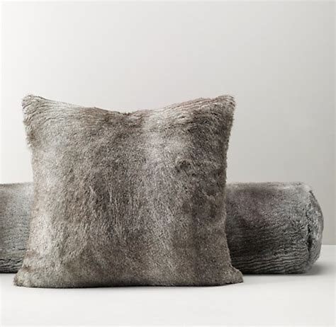 faux fur decorative pillows luxe faux fur decorative pillow cover insert