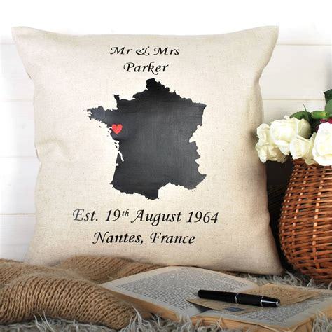 Wedding Anniversary Gifts Not On The High by Anniversary Gift And Wedding Location Cushion By Bags Not