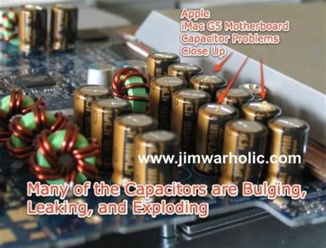 symptoms of a bad capacitor on a motherboard repararacion imac g5 taringa