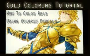 how to make the color gold gold coloring tutorial using color pencils