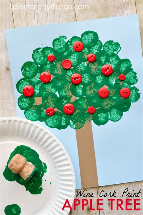 crafts tree wine cork sted apple tree craft i crafty things