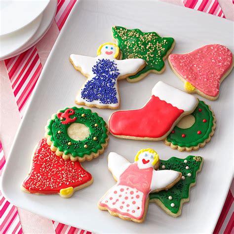 decorated cookies recipe decorated sugar cookie cutouts recipe taste of home