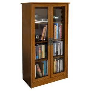 Bookshelves Glass Doors Altra Glass Door Bookcase Reviews Wayfair