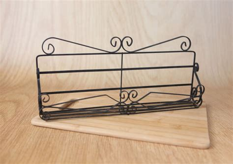 Metal Wall Spice Rack Vintage Metal Wall Shelf Spice Rack W Scroll By