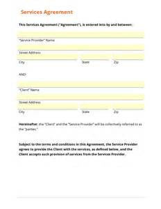 services agreement template business form template gallery