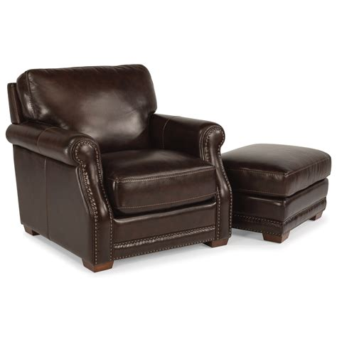 set with ottoman flexsteel latitudes chandler transitional chair and