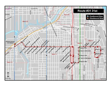 orange line map chicago cta 31 31st route pilot