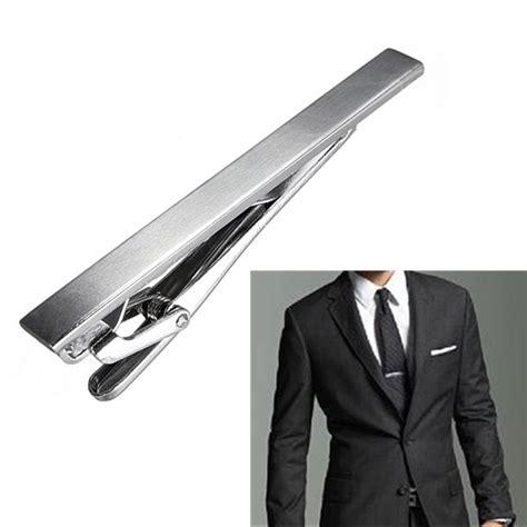 men s metal silver tone simple necktie tie clip alex nld