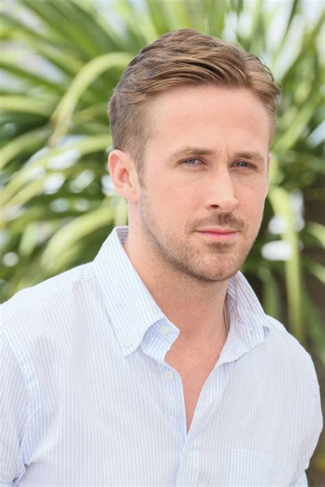 ryan gosling dyed his blond hair brown and everyone