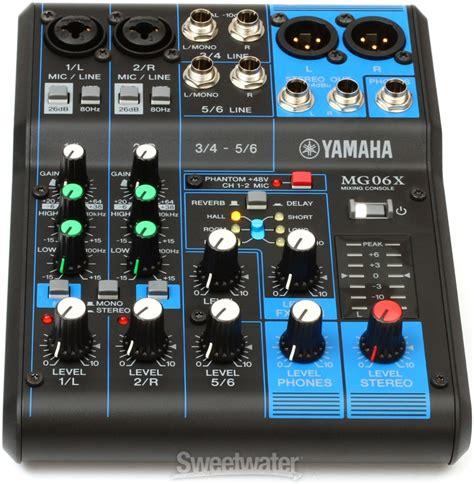 Yamaha Mixer Mg06x yamaha mg06x sweetwater