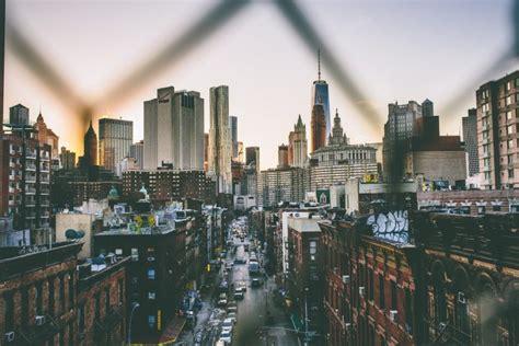 street city cityscape  york city usa building