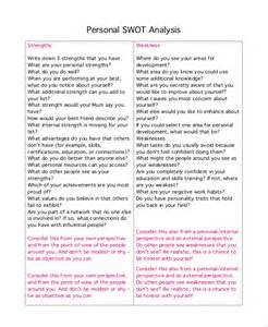 Personal Analysis Essay by Swot Analysis Exle 10 Sles In Pdf Word