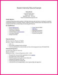 Resume Templates For College Students For Internships by 9 Write A Resume Of A Student