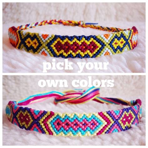 Handmade Bracelet Patterns - friendship bracelet made to order braided handmade