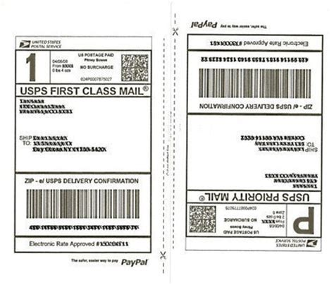 usps label template shipping labels 50 half page shipping labels 25 sheets for