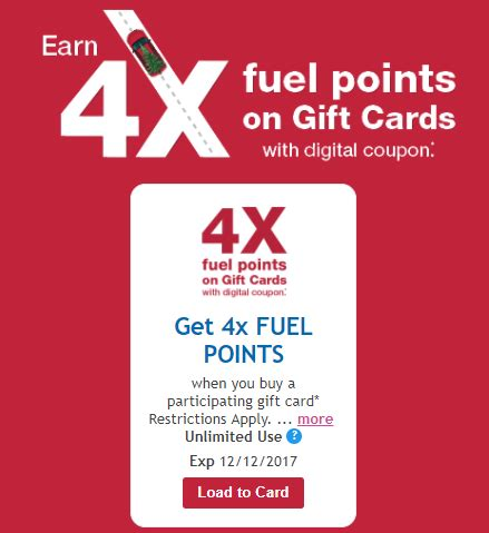 Kroger Gift Cards For Sale - expired kroger gift card sale 4x fuel points and lots of other gift card coupons