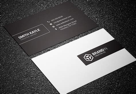 Black And White Business Card black white business card bundle graphic
