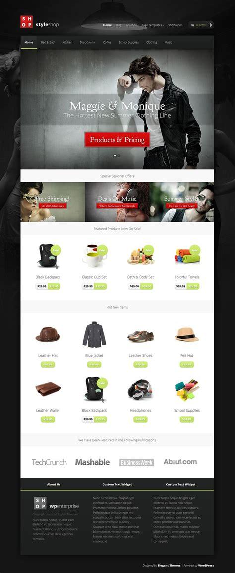 wordpress themes design inspiration styleshop ecommerce wordpress theme shop wordpress