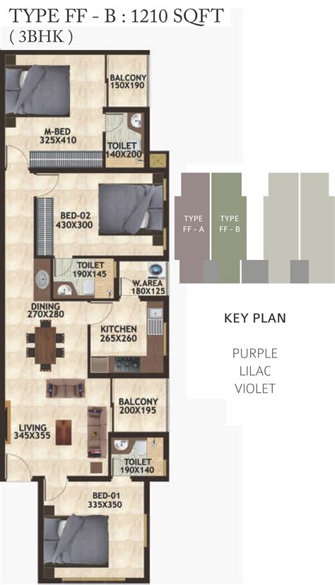 the petals floor plan 1210 sq ft 3 bhk 3t apartment for