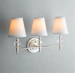Above Mirror Vanity Lighting Wilshire Sconce Bath Sconces Restoration Hardware