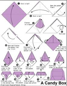 Origami Box Diagram - box tutorial instrucciones para realizar una