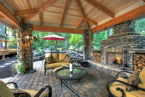 outdoor living space plans stone masonry on pinterest gazebo fireplaces and stones
