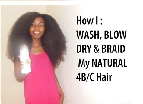 the best style for growing your hair natural kristenlock how to how i wash blow dry and braid my natural 4b 4c