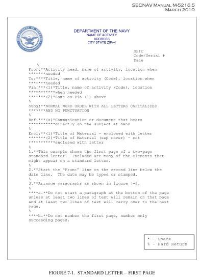 naval letter format doc navy letter format the best letter sle