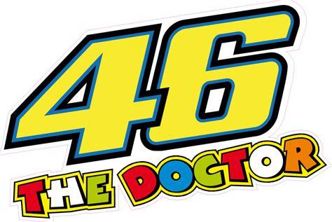 Sticker Vinyl The Doctor 46 the doctor valentino 175mm sticker decal quality printed vinyl label ebay