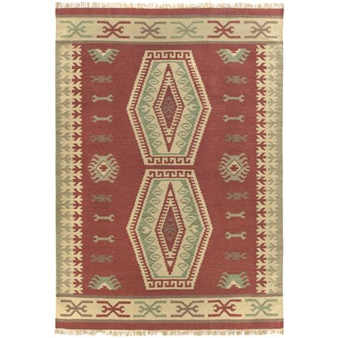 flat rugs woven diamonds flat weave rug 8x10 169027 rugs at sportsman s guide