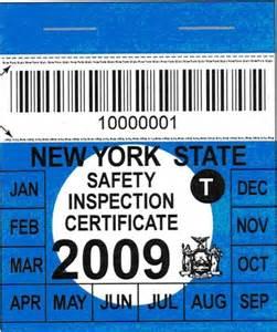 new car inspection sticker new york metropolitan area enhanced i m program june