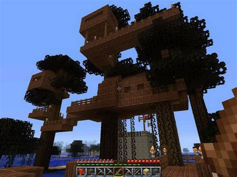 tree house designs minecraft 50 cool minecraft house designs hative