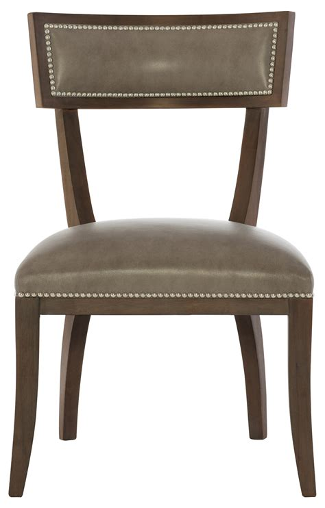leather dining side chairs leather dining side chair bernhardt